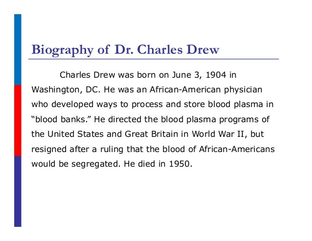 A biography of charles richard drew born in washington dc