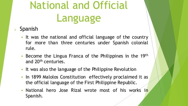 the metamorphosis of filipino as national language The philippine languages filipino (formerly pilipino) is based on tagalog and is the official language of the philippines in spite of being the national language, only about 55 percent of filipinos speak the language.
