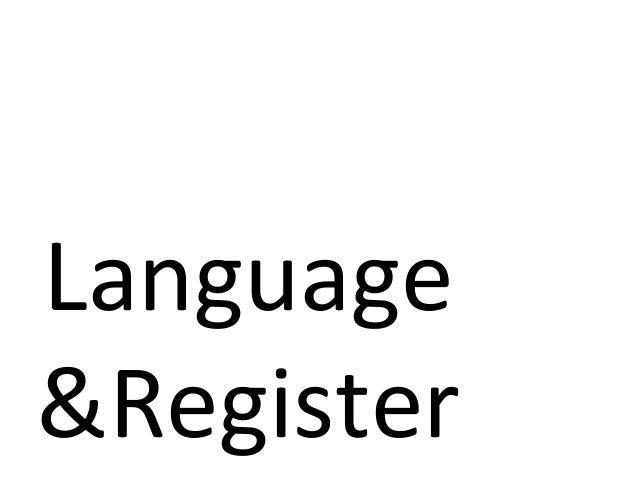 Language&Register