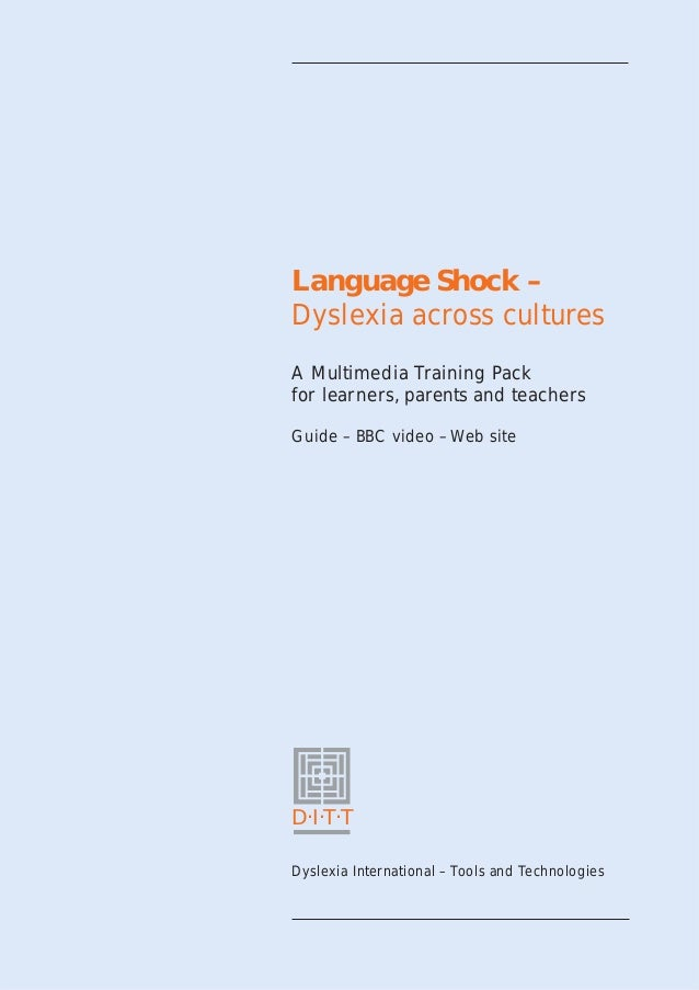 Language shock – dyslexia across cultures