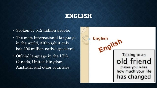 Languages Of The World - How many international languages in the world