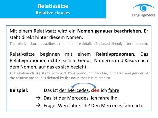 relativstze relative clauses 5 - Relativsatze Beispiele