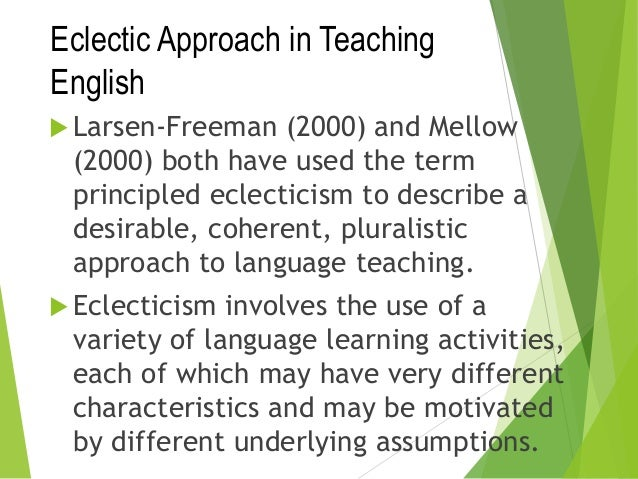 eclecticism in language teaching