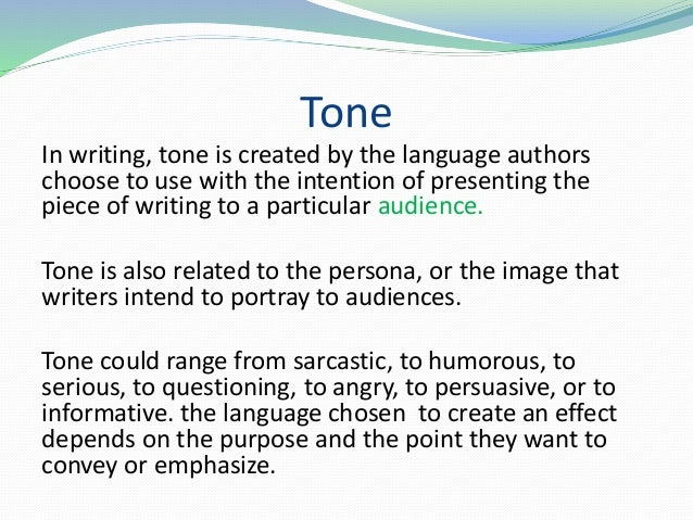 audience purpose tone View test prep - lesson 3_esl501u_12 audience, purpose, and tone from esl 501 at university of illinois, urbana champaign 12 audience, purpose and tone esl501u diagnostic essay update feedback.