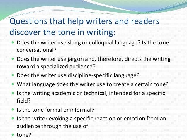 Academic writing help audience tone