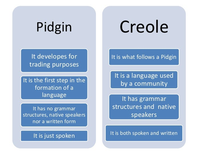 The Difference between Pidgin and Lingua Franca