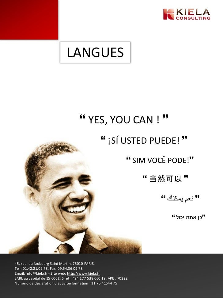 LANGUES                                       YES, YOU CAN !                                                    ¡SÍ UST...