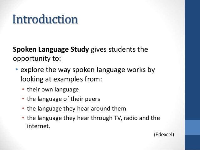 importance of spoken english in language curriculum