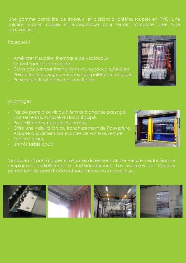 Rideaux et lanieres en pvc Slide 2