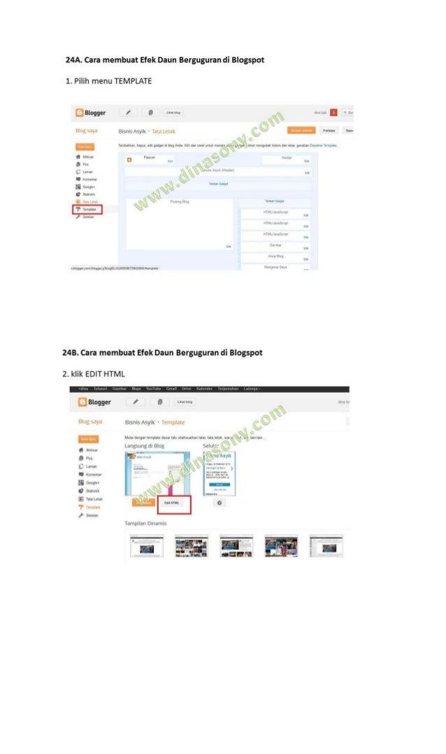 24D. Cara membuat Efek Daun Berguguran di Blogspot4. Cari kode </head> (Gunakan Tombol CTRL + F untuk mempermudah pencaria...
