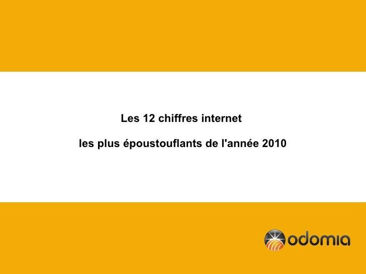 Les 12 chiffres internetles plus époustouflants de lannée 2010
