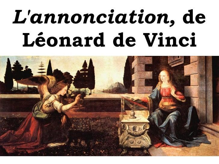 L'annonciation,  de Léonard de Vinci