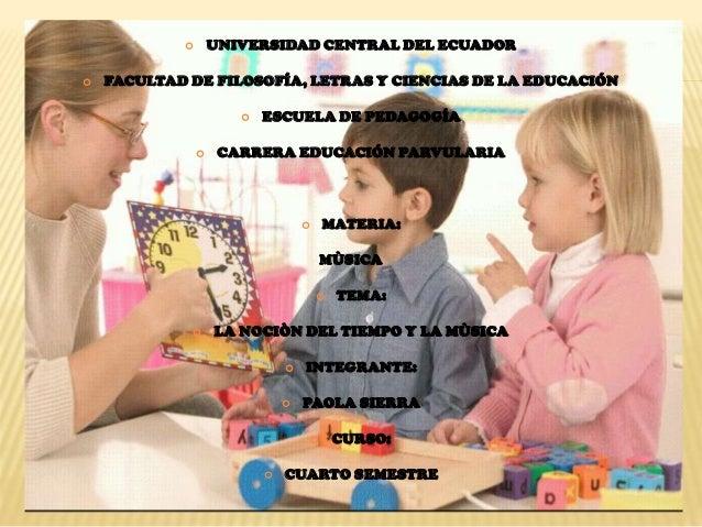  UNIVERSIDAD CENTRAL DEL ECUADOR  FACULTAD DE FILOSOFÍA, LETRAS Y CIENCIAS DE LA EDUCACIÓN  ESCUELA DE PEDAGOGÍA  CARR...
