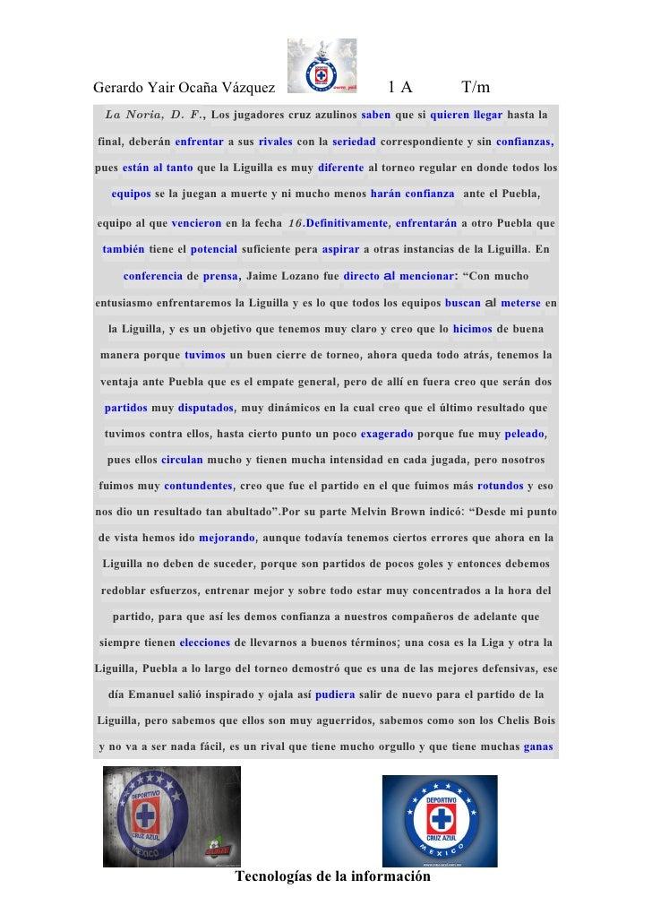 Gerardo Yair Ocaña Vázquez                               1A            T/m  La Noria, D. F., Los jugadores cruz azulinos s...