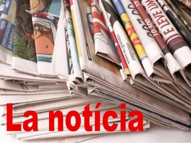 La notícia d'un diari ens proporciona informació sobre un esdeveniment mitjançant textos i fotos. La notícia és un text na...