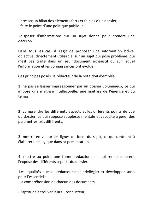 comment faire un resume de rapport