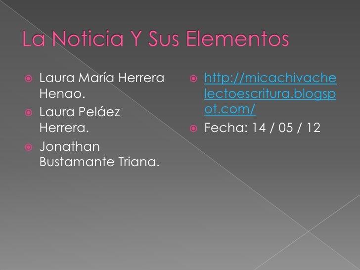    Laura María Herrera      http://micachivache    Henao.                    lectoescritura.blogsp   Laura Peláez      ...