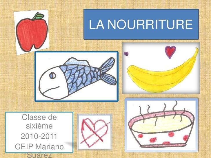 LA NOURRITURE<br />Classe de sixième<br />2010-2011<br />CEIP Mariano Suárez<br />