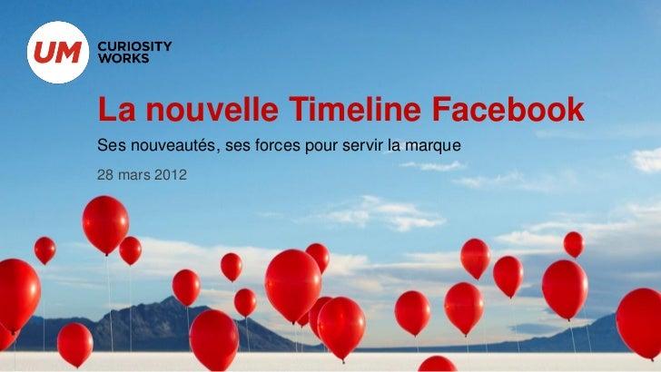 La nouvelle Timeline FacebookSes nouveautés, ses forces pour servir la marque28 mars 2012