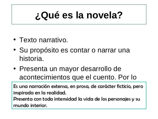 Ppt La Novela