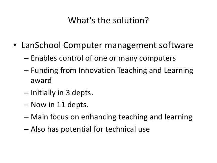 Computer based teachings can have problems with funding