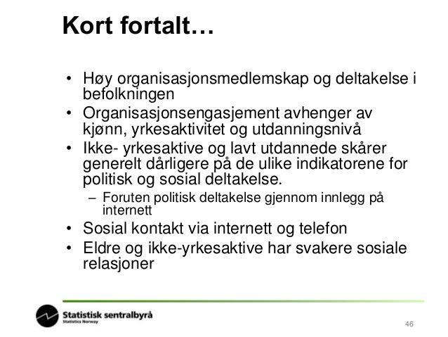 Lanseringsseminar Samfunnsspeilet 5/2014: Sosiale indikatorer