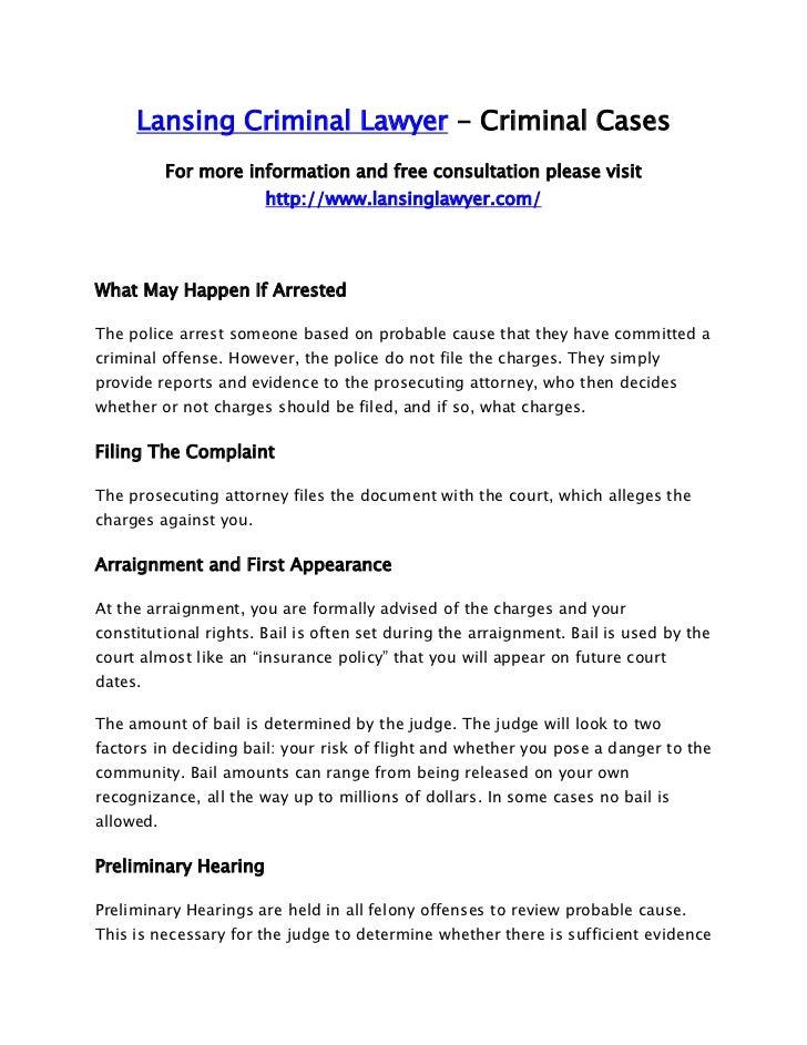 Lansing Criminal Lawyer - Criminal Cases           For more information and free consultation please visit                ...