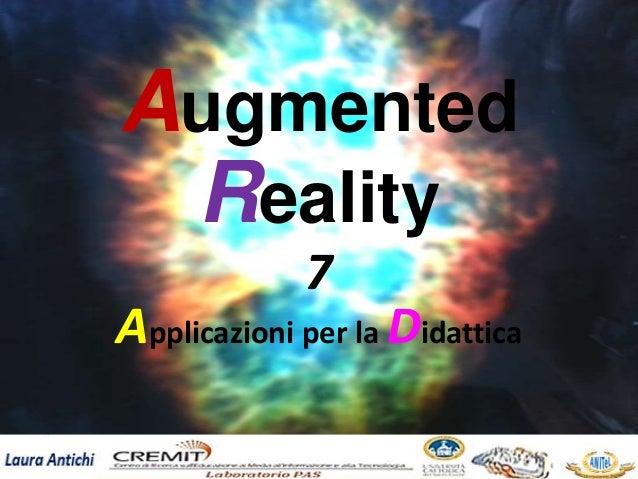 7 Applicazioni per la Didattica Augmented Reality