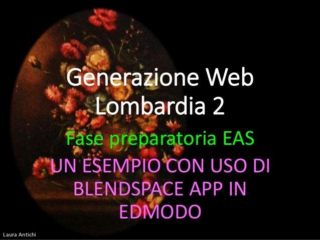 Laura Antichi Generazione Web Lombardia 2 Fase preparatoria EAS UN ESEMPIO CON USO DI BLENDSPACE APP IN EDMODO