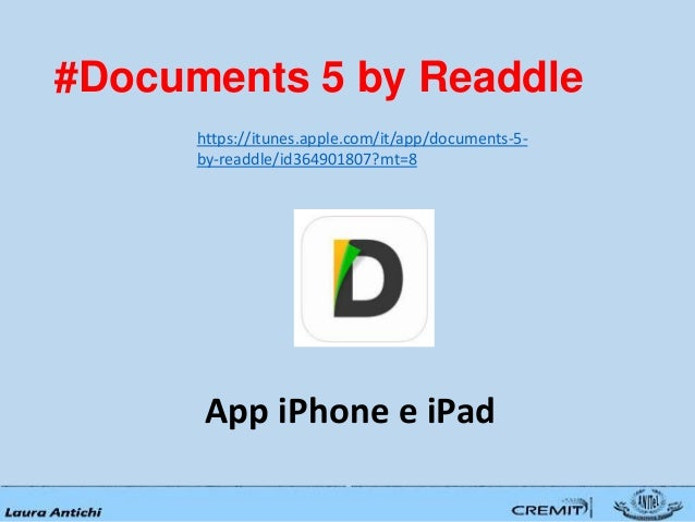 Salvare file su ipad for Documents 5 by readdle