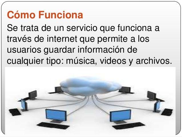 Cómo Funciona Se trata de un servicio que funciona a través de internet que permite a los usuarios guardar información de ...