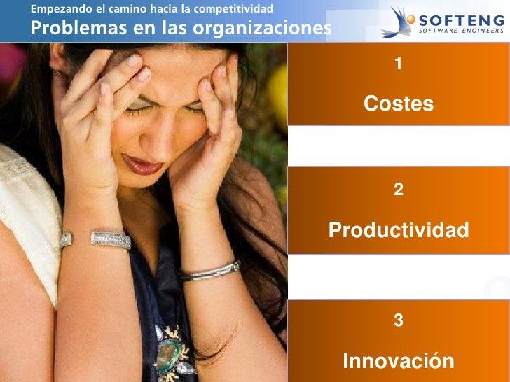Empezando el camino hacia la competitividadProblemas en las organizaciones                                                ...