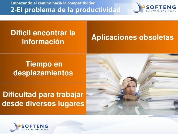 Empezando el camino hacia la competitividad  2-El problema de la productividad  Difícil encontrar la                      ...