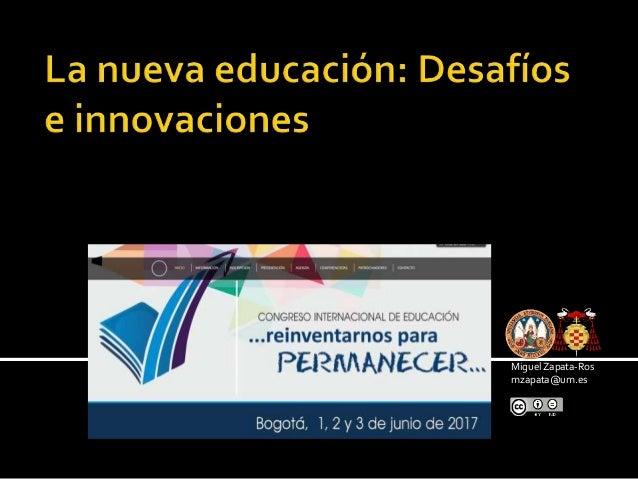 La presentación está bajo una licencia de Creative Commons Attribution- NoDerivs 3.0 Unported. Miguel Zapata-Ros mzapata@u...
