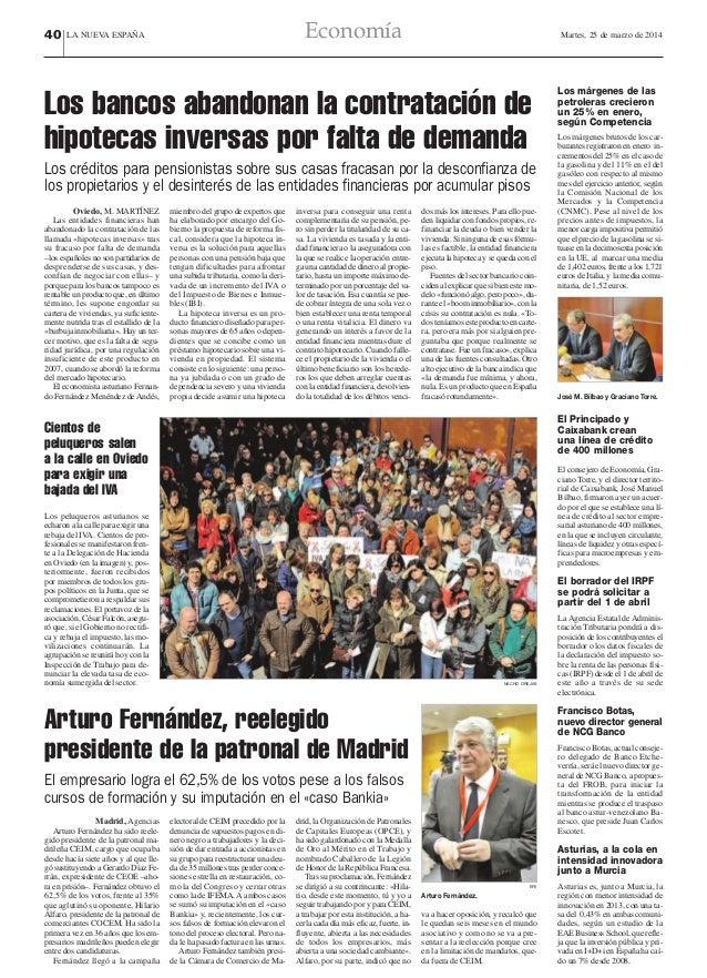 40  LA NUEVA ESPAÑA Economía Martes, 25 de marzo de 2014 Los márgenes de las petroleras crecieron un 25% en enero, según C...