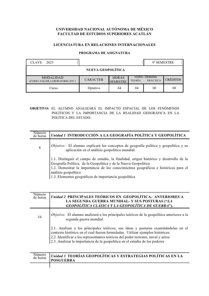 UNIVERSIDAD NACIONAL AUTÓNOMA DE MÉXICO                      FACULTAD DE ESTUDIOS SUPERIORES ACATLÁN                      ...