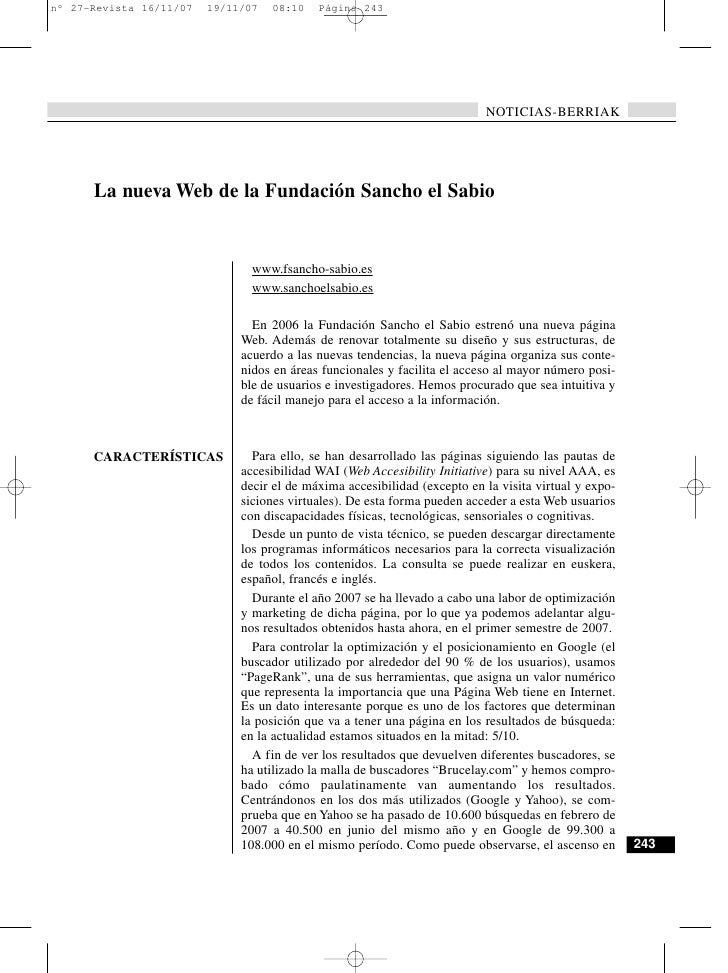 NOTICIAS-BERRIAK     La nueva Web de la Fundación Sancho el Sabio                       www.fsancho-sabio.es              ...