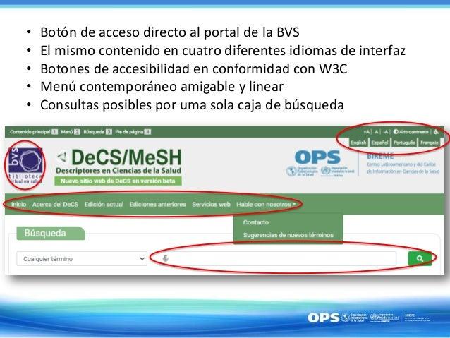 Lanzamiento del nuevo sitio del DeCS/MeSH  - 18/09/2020 a las 11h30 (Hora de Brasilia) - Ana Cristina Espindola Campos Slide 3