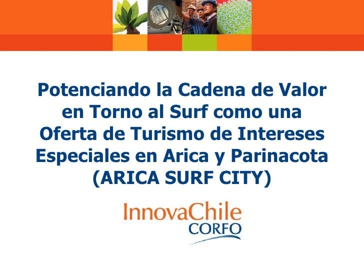 Potenciando la Cadena de Valor en Torno al Surf como una Oferta de  Turismo de Intereses Especiales en Arica y Parinacota ...