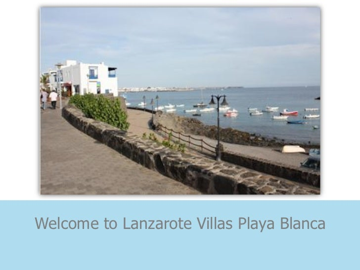 Welcome to Lanzarote Villas Playa Blanca