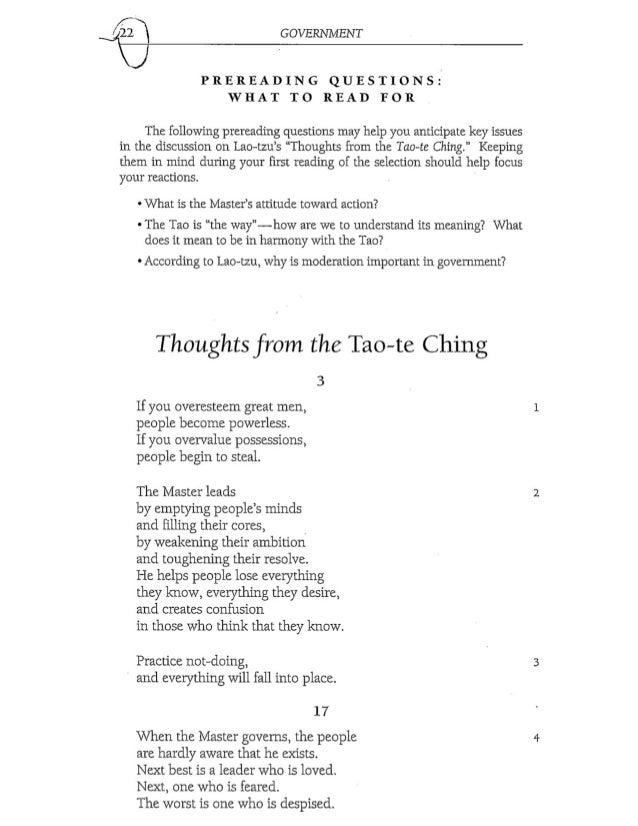 lao tzu essay