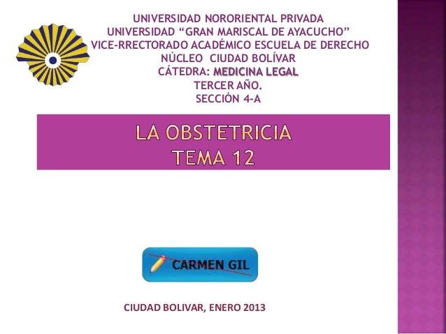 """UNIVERSIDAD NORORIENTAL PRIVADA UNIVERSIDAD """"GRAN MARISCAL DE AYACUCHO"""" VICE-RRECTORADO ACADÉMICO ESCUELA DE DERECHO NÚCLE..."""