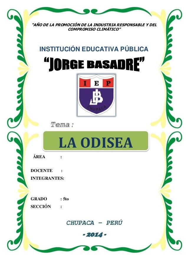 """INSTITUCIÓN EDUCATIVA PÚBLICA """"JORGE BASADRE"""" - CHUPACA JCNET 2014 – AV. LOS HÉROES N° 433 - CHUPACA Página 1 """"AÑO DE LA P..."""
