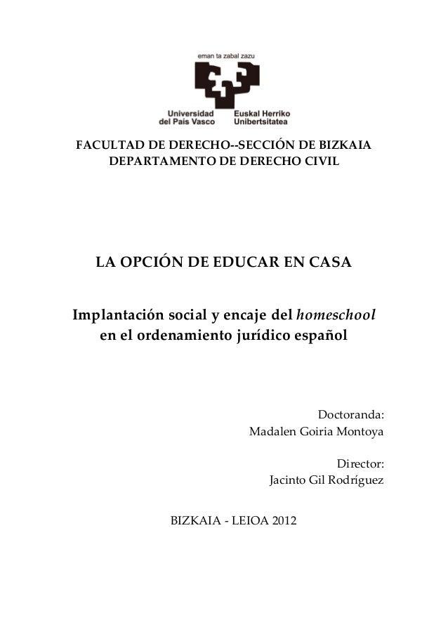 La opcion de educar en casa tesis corregida - Educar en casa ...