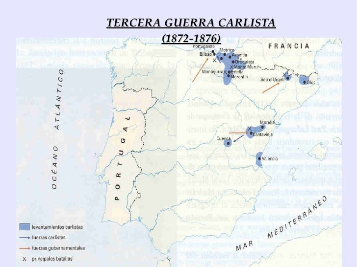 Resultado de imagen de tercera guerra carlista