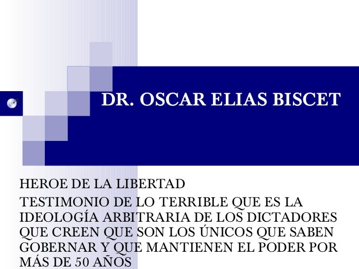 DR. OSCAR ELIAS BISCET HEROE DE LA LIBERTAD TESTIMONIO DE LO TERRIBLE QUE ES LA IDEOLOGÍA ARBITRARIA DE LOS DICTADORES QUE...