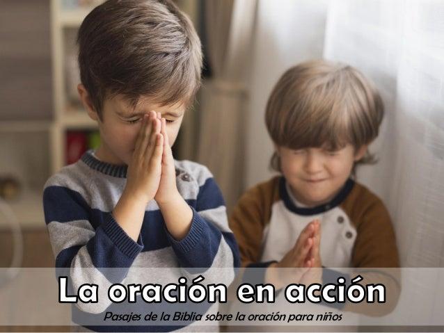 Pasajes de la Biblia sobre la oración para niños