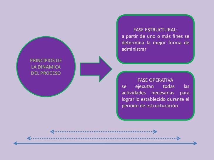 FASE ESTRUCTURAL:<br />a partir de uno o más fines se determina la mejor forma de administrar<br />PRINCIPIOS DE LA DINAMI...
