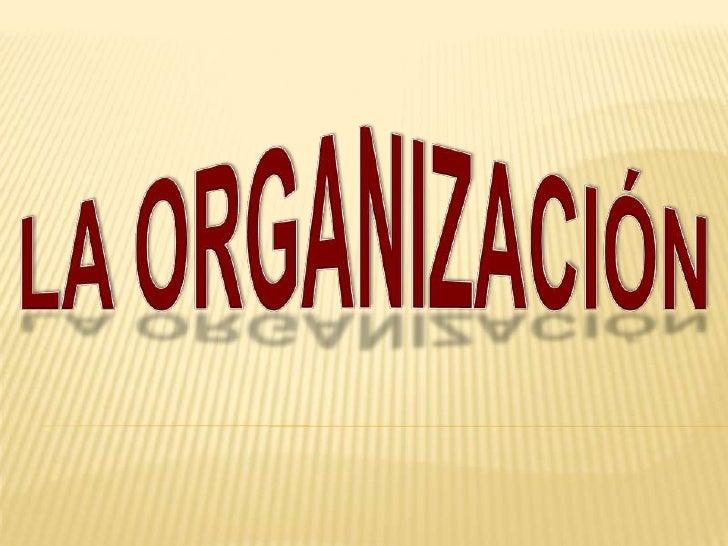 LA ORGANIZACIÓN<br />