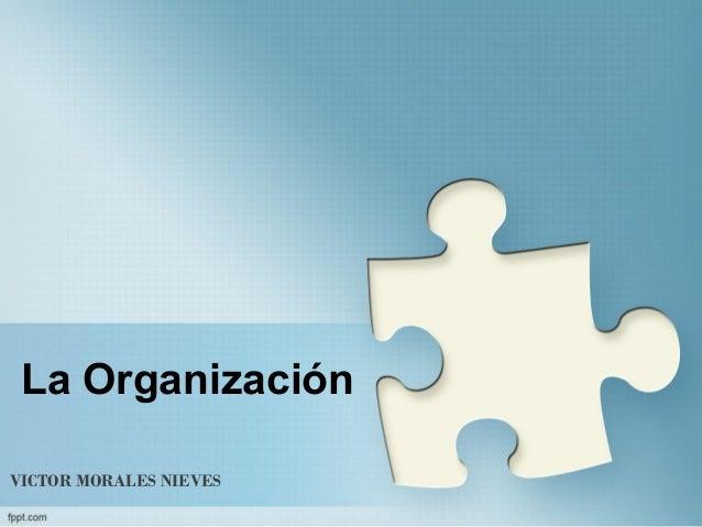 La OrganizaciónVICTOR MORALES NIEVES